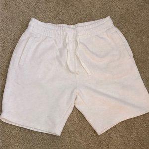Men's white H&M sweat shorts